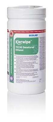 Klerwipe 70/30 Denatured Ethanol Sterile 15x200 Tub Wipes 200x230